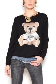 MOSCHINO wool sweatshirt with printed bear