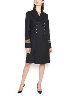 SAINT LAURENT double-breasted military style coat