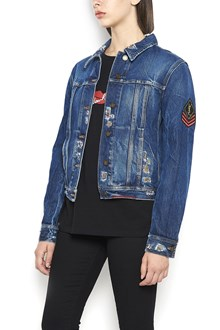 SAINT LAURENT denim jacket with patch