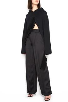 GIACOBINO short hoodie with rouches