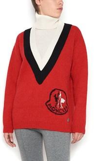 MONCLER GAMME ROUGE turtleneck wool sweater