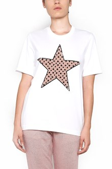 MARKUS LUPFER cotton t-shirt with flower paillettes