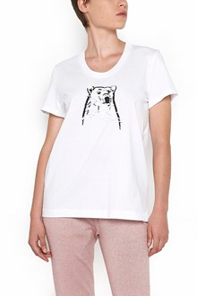 MARKUS LUPFER cotton t-shirt with polar bear head paillettes