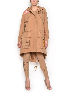 MOSCHINO Parka with hoodie and print