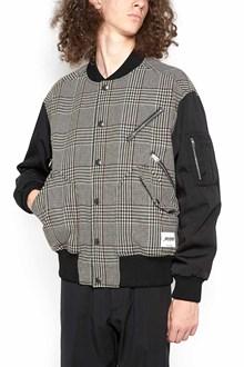 STELLA MCCARTNEY bi-material bomber jacket