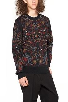 ALEXANDER MCQUEEN cotton embroidered crew neck sweatshirt