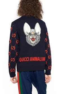 GUCCI wool sweater with GG print all over