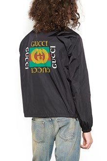 GUCCI windbreaker with hood and gucci print
