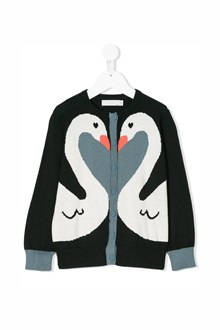"STELLA MCCARTNEY KIDS cotton ""lauren"" cardigan with close buttons and penguin print"