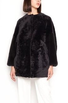 FURLING BY GIANI FIRENZE 'giulia' fur short coat with mink sleeves