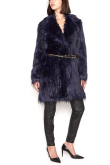 MICHAEL MICHAEL KORS fur coat with belt