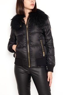 MICHAEL MICHAEL KORS padded bomber jacket with fur collar