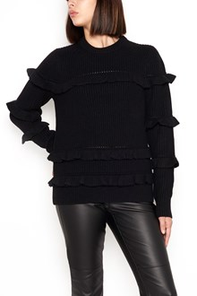 MICHAEL MICHAEL KORS wool sweater with rouches
