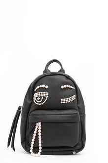 CHIARA FERRAGNI leather backpack with 'flirting' pearls