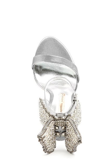 SOPHIA WEBSTER leather 'evangeline' crystal sandals