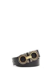 SALVATORE FERRAGAMO leather belt with logo buckle