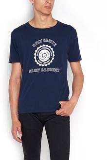 SAINT LAURENT T-shirt with ' Saint Laurent Universite' Patch