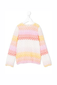 MISSONI KIDS Crew-neck multicolor lurex cardigan