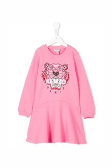 KENZO KIDS cotton dress with 'Tiger' embroidery