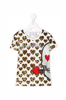 PHILIPP PLEIN JUNIOR 'Honey' printed t-shirt with swarovski