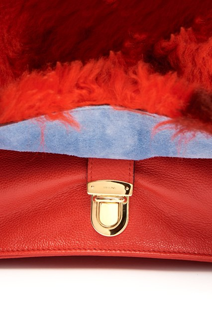 PRADA Calf and Sheepskin Leather Shoulder Bag