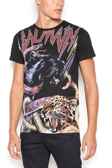 BALMAIN cotton crew neck t-shirt with 'tigre' print