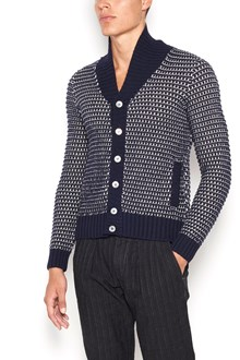 ZANONE button up wool cardigan with rever