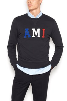 AMI cotton crew neck sweatshirt with logo