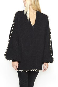 LANEUS wool cardigan with pearls