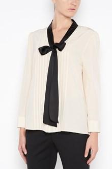 BOTTEGA VENETA Silk blouse with contrasting collar bow