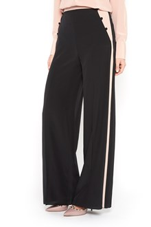 VALENTINO Silk crepe pants with lateral band