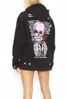 ADAPTATION 'Smoking Skull' denim jacket