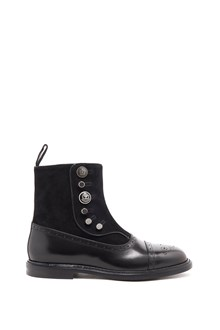 DOLCE & GABBANA 'marsala' leather and suade ankle boot with zip