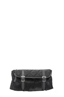 PRADA nylon and fur bum bag