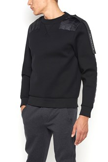 MONCLER cotton crew neck sweatshirt with padded details