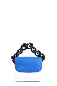 MARQUES ALMEIDA suede leather hand bag with chain and adjustable strap