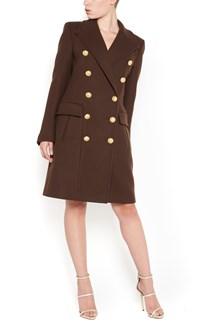BALMAIN Wool double-breasted long Coat
