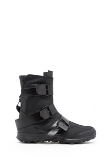 YOHJI YAMAMOTO Leatehr boots with three buckle. Collaboration with Adidas