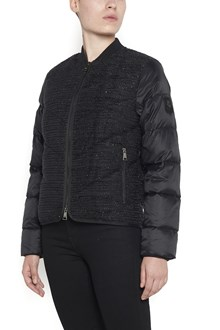 KARL LAGERFELD boucle quilted padded jacket with pockets