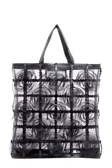 NOIR KEI NINOMIYA Tote with organdy flowers