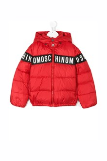 MOSCHINO KID TEEN padded jacket with hood and logo