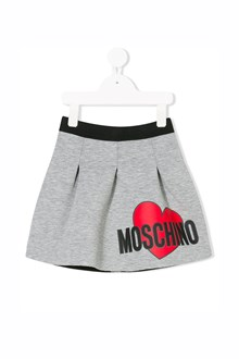 MOSCHINO KID TEEN mini skirt with logo