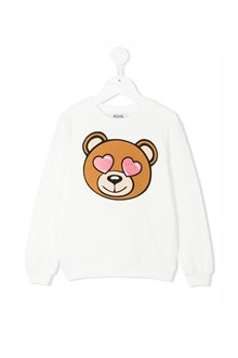 MOSCHINO KID TEEN 'Bear' printed crew-neck sweatshirt