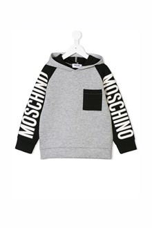 MOSCHINO KID TEEN hoodie with pocket and logo