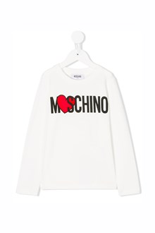 MOSCHINO KID TEEN 'Moschino' printed t-shirt with long sleeves