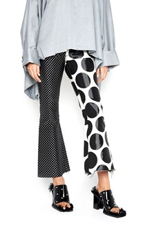 MARQUES ALMEIDA Pants with Polka dot and big circle