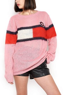 HILFIGER Sweater with 'Mouth' patch