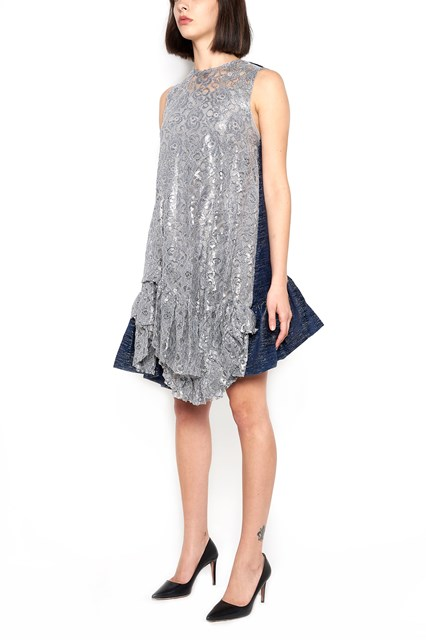 JOURDEN Dress without sleeves and with Ruffles