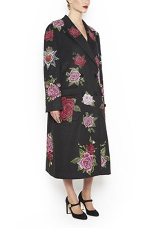 DOLCE & GABBANA Coat with embroidered Flowers