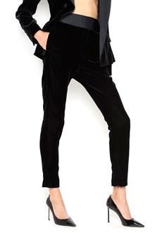 ALEXANDRE VAUTHIER Velvet pants with satin stripe